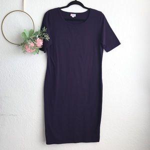 LuLaRoe Irma Short Sleeve Purple Dress